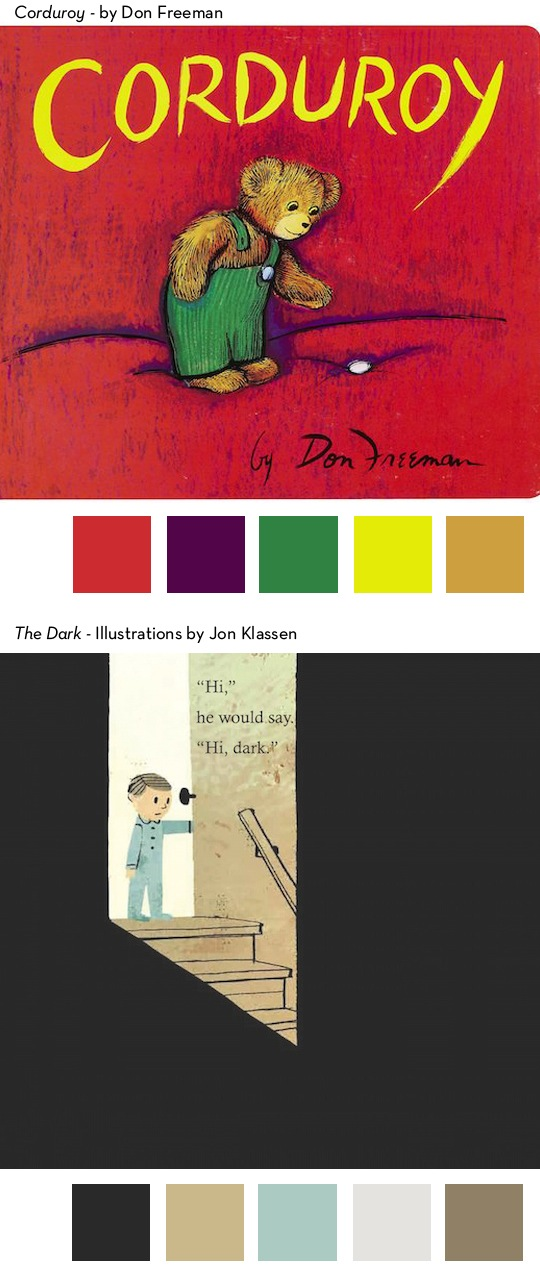 Color Palettes in some of our favorite children's books from @redcapcards