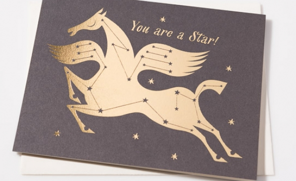 Foil Stamped Card by Lesley Barnes for @redcapcards