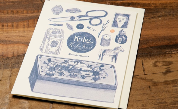Life in Kee Lox, a greeting card by Lizzy Stewart for Red Cap Cards @redcapcards