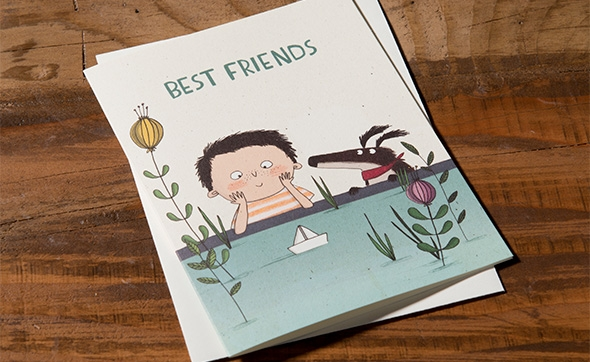 best friend card by Kate Hindley