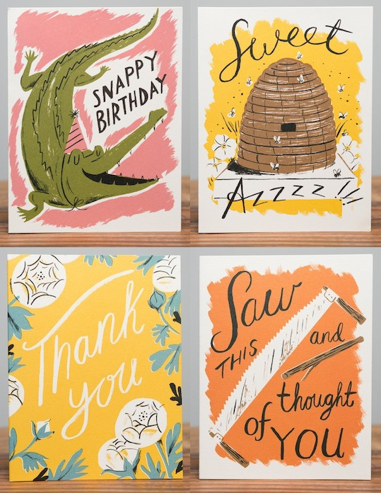 New cards by Nicholas Frith for Red Cap Cards