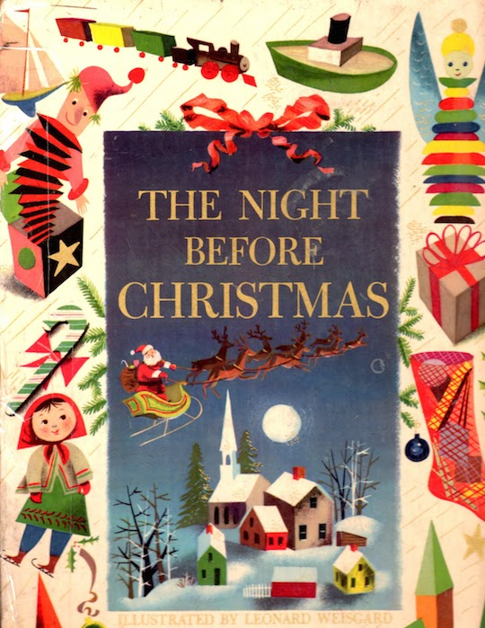 Favorite Holiday Children's Books List by @redcapcards The Night Before Christmas with illustrations by Leonard Weisgard