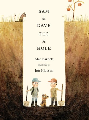 Sam and Dave Dig a Hole, illustrated by @redcapcards artist, Jon Klassen