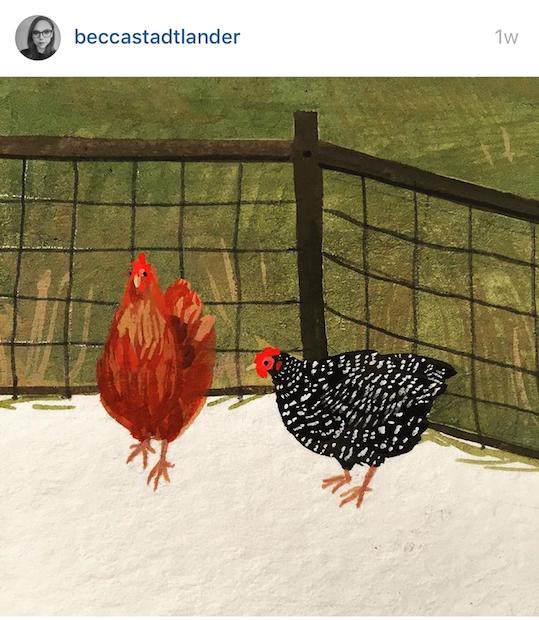 Red Cap Cards artists on Instagram! Becca Stadtlander