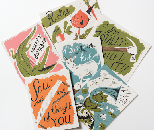 Artist Spotlight: Nicholas John Frith for Red Cap Cards - interview and pics @redcapcards