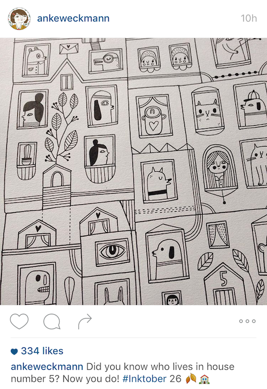 Red Cap Cards artists on Instagram! Anke Weckmann