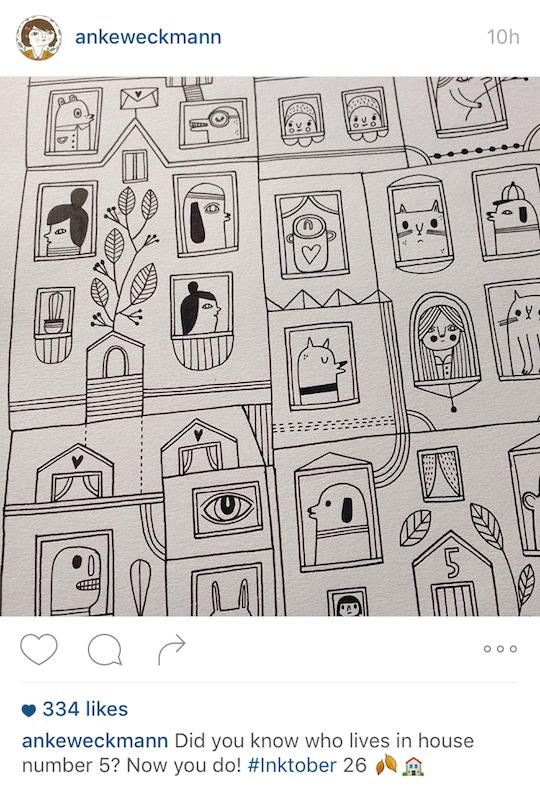 Red Cap Cards artists on Instagram! Anke Weckmann