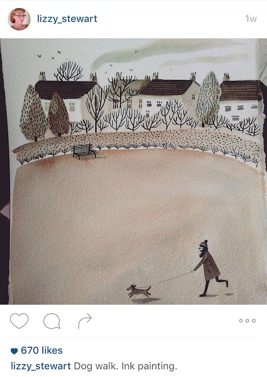 Red Cap Cards artists on Instagram! Lizzy Stewart