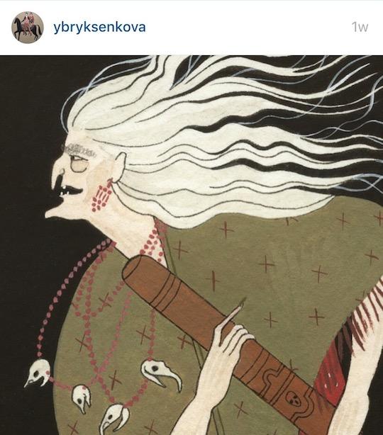 Red Cap Cards artists on Instagram! Yelena Bryksenkova