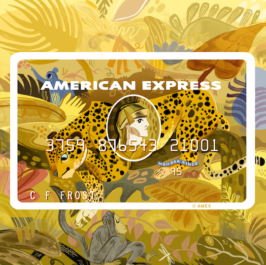 Artist News Roundup for Red Cap Cards: Meg Hunt for Amex