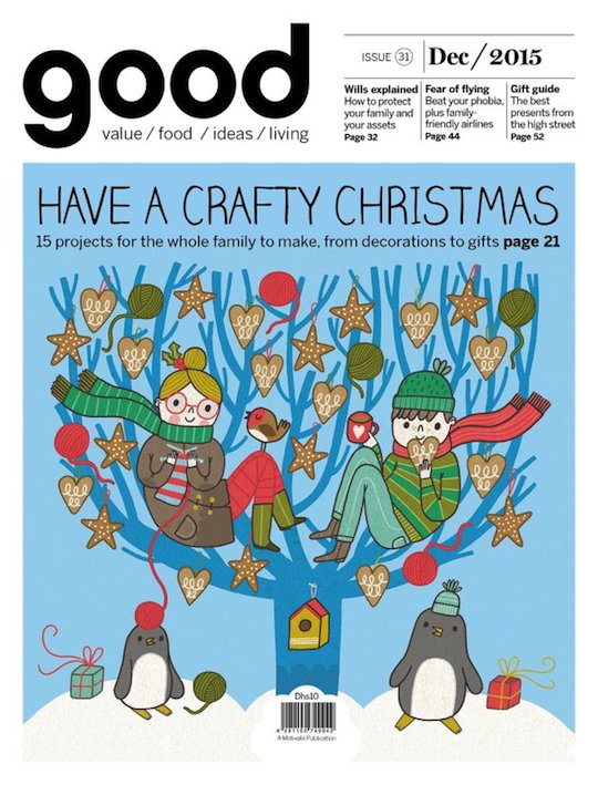 Red Cap Cards artist Anke Weckmann's cover for Good Magazine