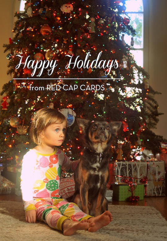 Happy Holidays from Red Cap Cards