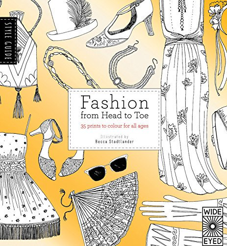 Fashion Adult Coloring Book by Becca Stadtlander