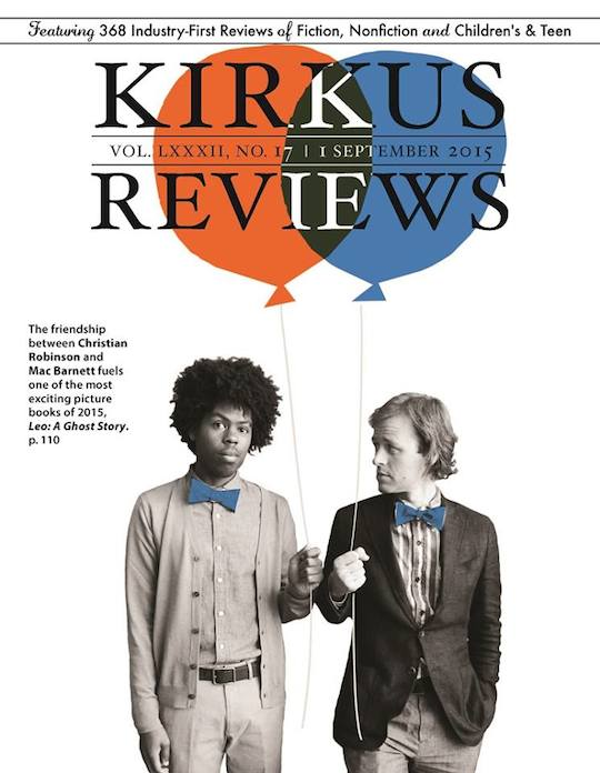 Mac Barnett and Christian Robinson on the cover of Kirkus Reviews