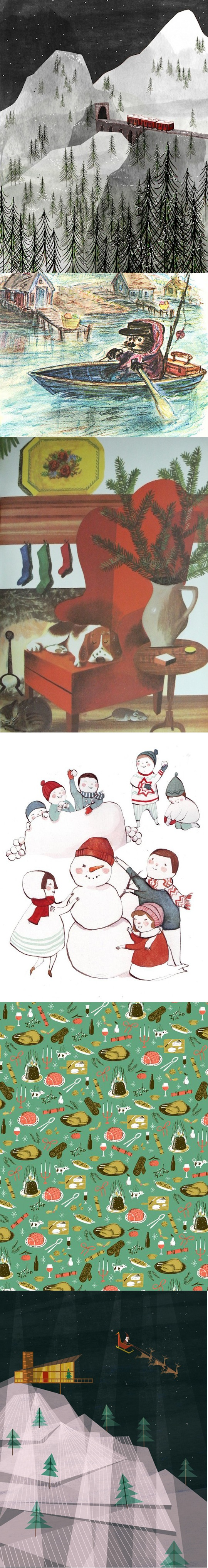 Favorite Holiday illustration curation by Red Cap Cards