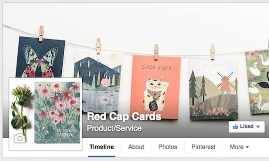 @Redcapcards on Facebook