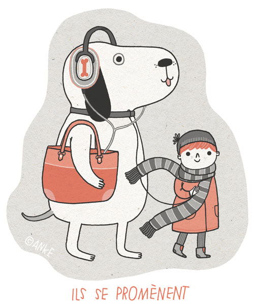 french illustrations by anke weckmann