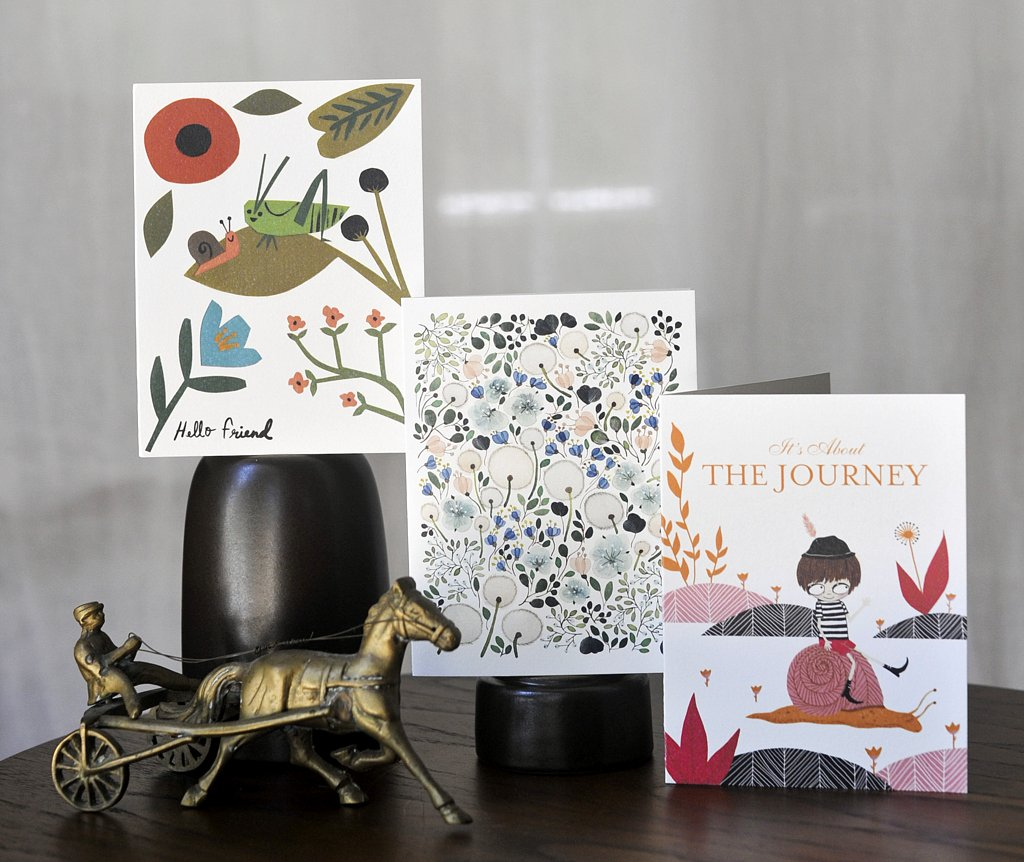 illustrated greeting cards by illustrator at red cap cards, carrie gifford