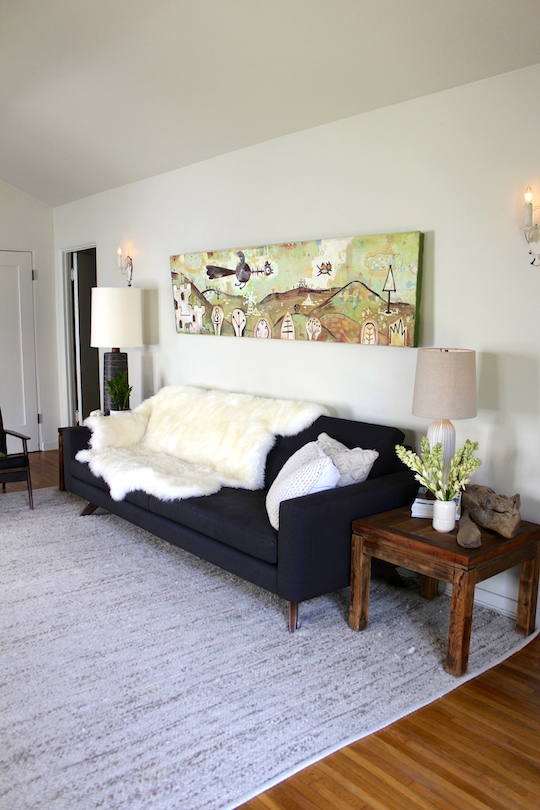 Carrie and Hal of Red Cap Card's Home on Apartment Therapy