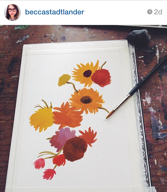 Red Cap Cards' artists on Instagram: Becca Stadtlander