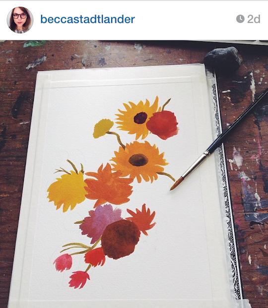Red Cap Cards' artists on Instagram: Becca Stadtlander