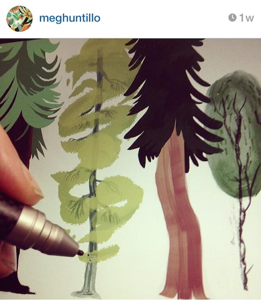 Red Cap Cards' artists on Instagram: Meg Hunt