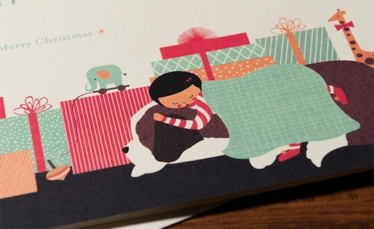 Truman's Christmas by Jill Labieniec for Red Cap Cards