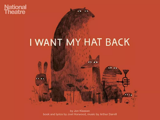 Red Cap Cards artist, Jon Klassen has a brand new stage production of his childrens book I Want My Hat Back