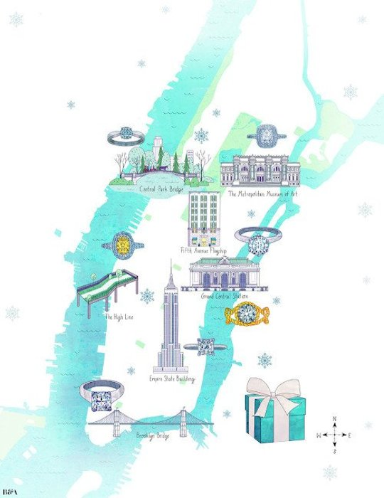 An Ode to the City by Red Cap Cards artists // Josie Portillo for Tiffany's