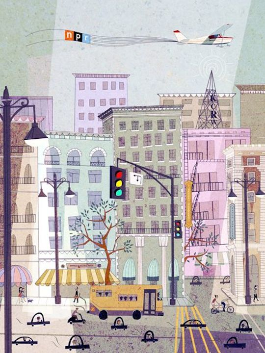 An Ode to the City by Red Cap Cards artists // Josie Portillo for NPR