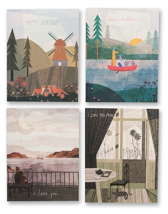quartet of cards by Josie Portillo for Red Cap Cards