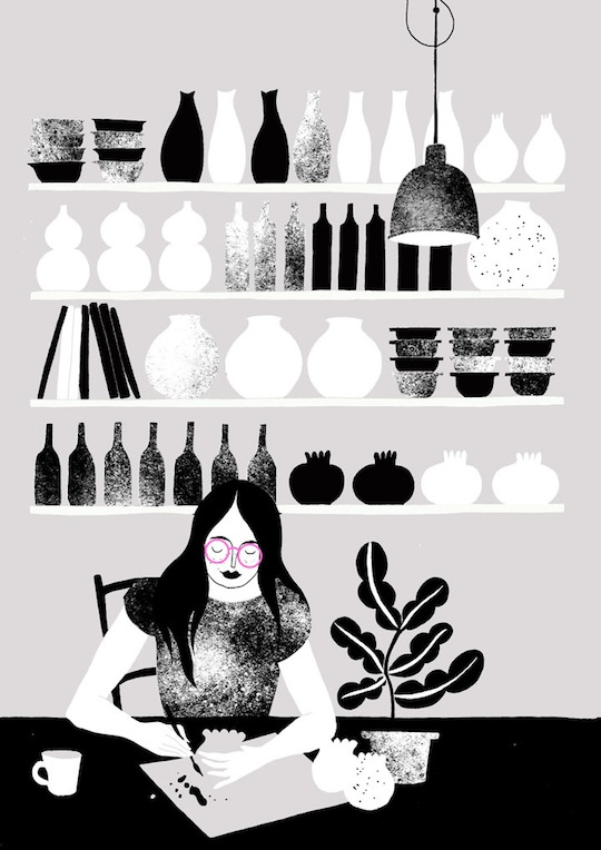 A Collection of Our Favorite Black and White Illustrations - Karolin Schnoor