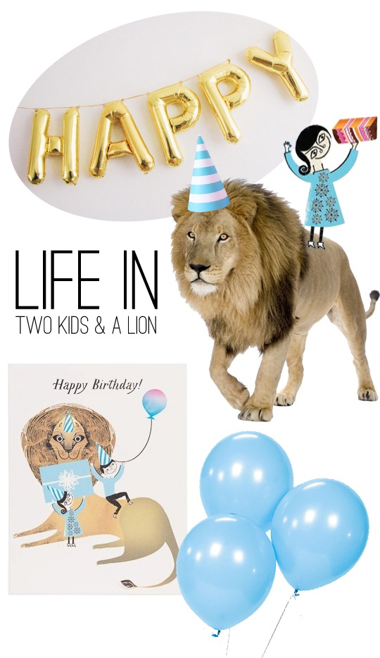 Life in Two Kids and a Lion by Red Cap Cards @redcapcards