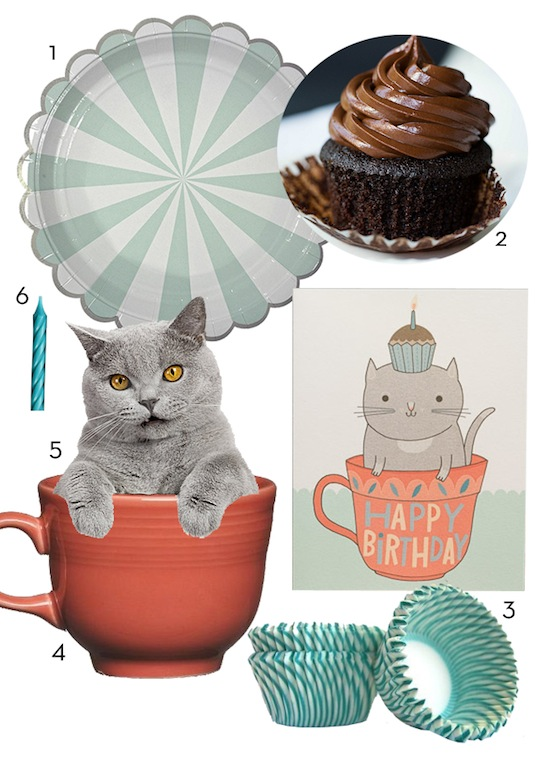 Life in Teacup Cat by Anke Weckmann for Red Cap Cards
