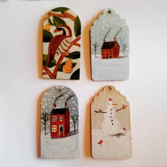 Ornaments by Red Cap Cards artist, Lizzy Stewart