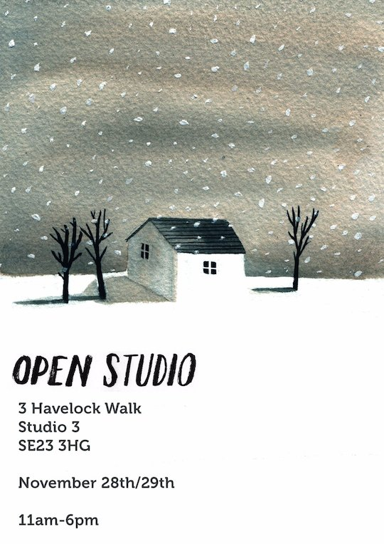 Red Cap Cards artist, Lizzy Stewart's open studio