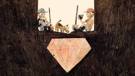 Congratulations to Jon Klassen from @redcapcards on Sam and Dave Dig a Hole's book honors