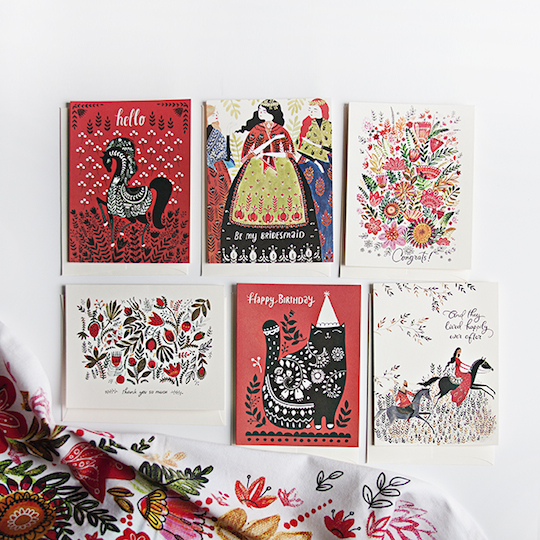 Artist Spotlight with Dinara Mirtalipova for Red Cap Cards