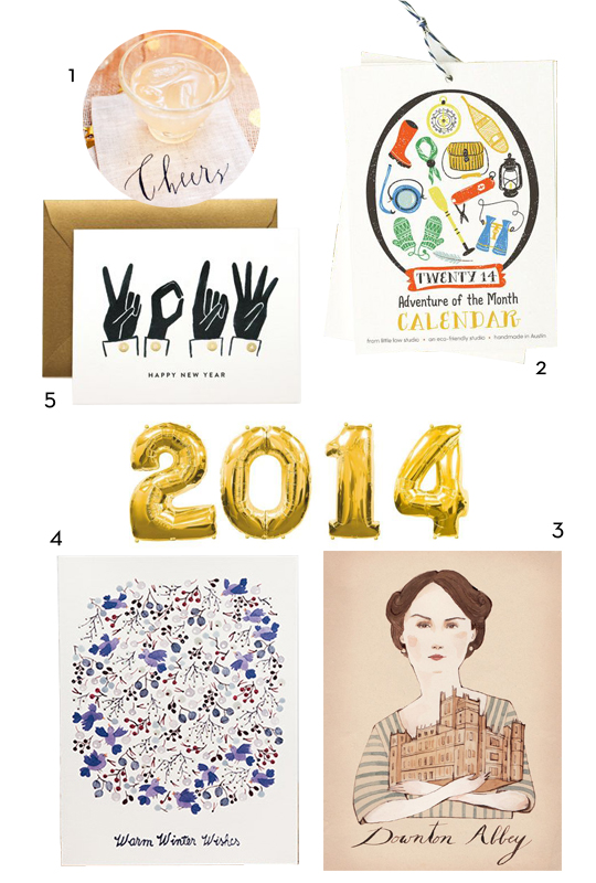 Happy New Year from Red Cap Cards // Downton Abbey, Oh So Beautiful Paper