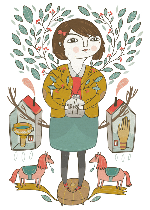 Anke Weckmann's cover for Frrresh on Red Cap Cards blog