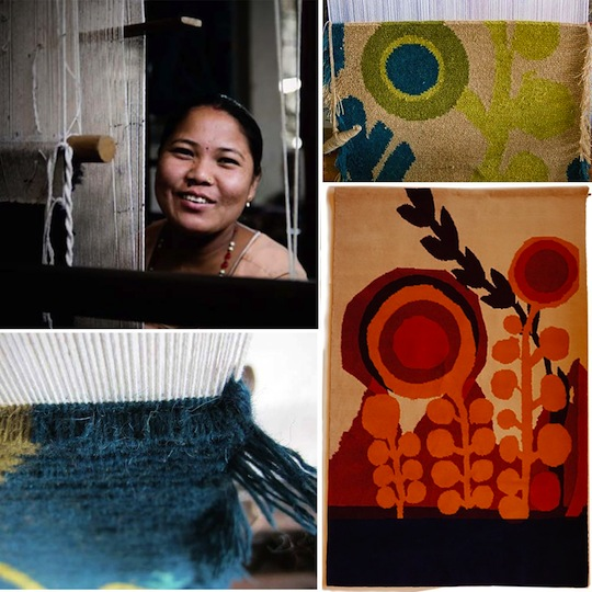 NODE rug exhibition with work by Lesley Barnes and new weaving by Jon Klassen